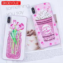 hot deal buy liquid case for iphone xr xs max x 6 6s 7 8 plus se 5 5s quicksand glitter cover for iphone 7 plus xr xs max soft silicone case