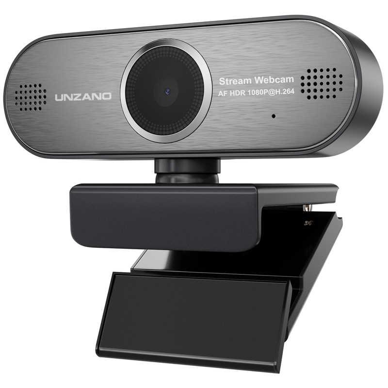 Unzano Pro Stream Webcam 1080P HD Auto Focus Web Camera Game