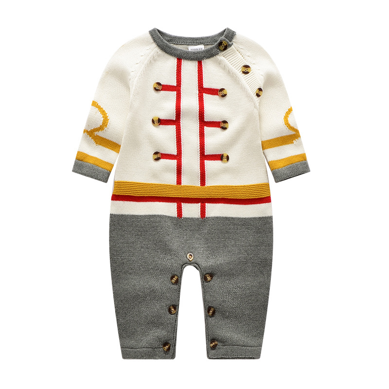 Auro Mesa Infant Baby Knitting Romper Cotton European style baby one-piece Clothes