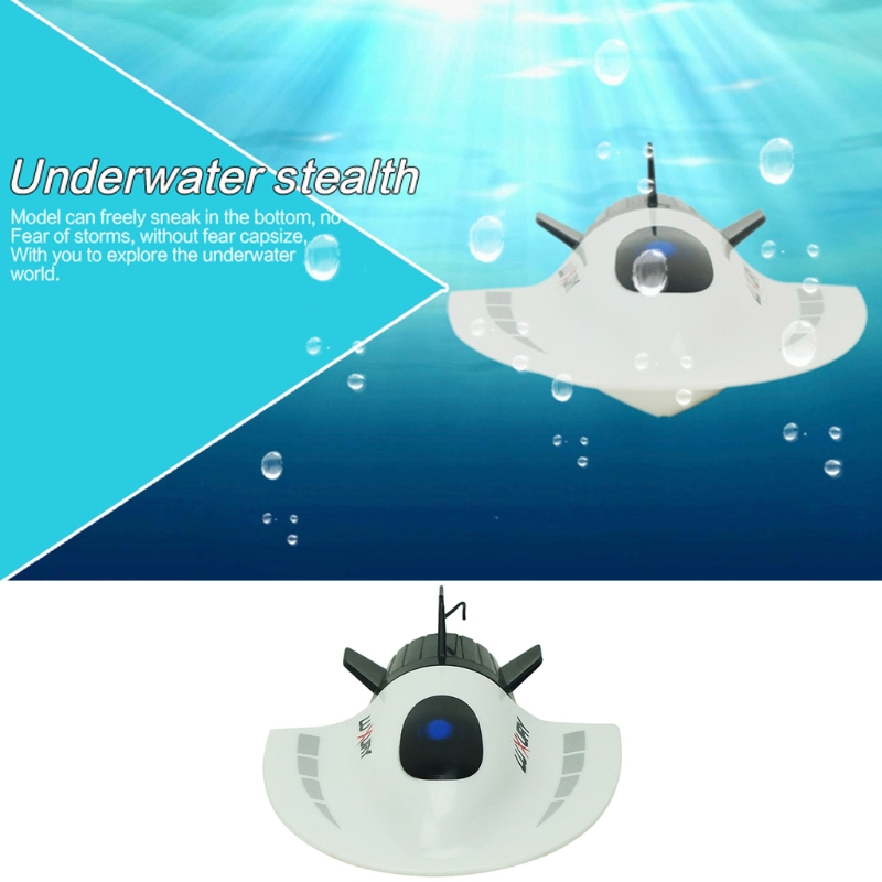 RC Toys Mini Submarine Toy 4CH High Powered Speed Remote Control Boats 2.4G New W15