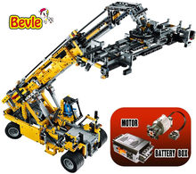20004 2606Pcs Technic Motor Power Mobile Crane Mk II Model Building Kits Blocks Toy Bricks Compatible With Bela(China)