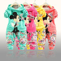 BibiCola new  Spring Autumn baby girls Sport suit set long sleeve children hoodies+pants clothes sets kids 2 pcs clothing set