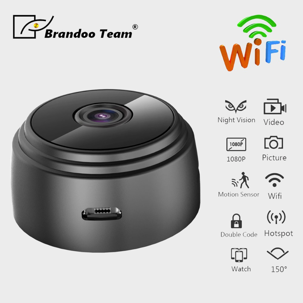 Brandoo Mini Camera DVR Wifi IP 1080P H.264 HD Mini Camera Wireless Action Cam Bike Camera Mini DV Camera Video Recorder цена