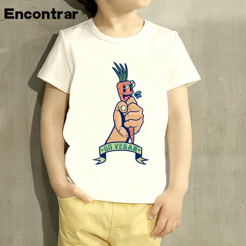 Kids Vegan Design Baby Boys/Girl TShirt Kids Funny Short Sleeve Tops Children Cute T-Shirt,HKP555