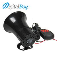 Digitalboy 12V 100W 105db 7 Tone Siren Loud Car Horn Car Speaker Alarm For Talking Firemen