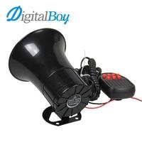 Digitalboy 12V 100W 105db 7 Tone Siren Loud Car Horn Car Speaker Alarm For Talking Firemen