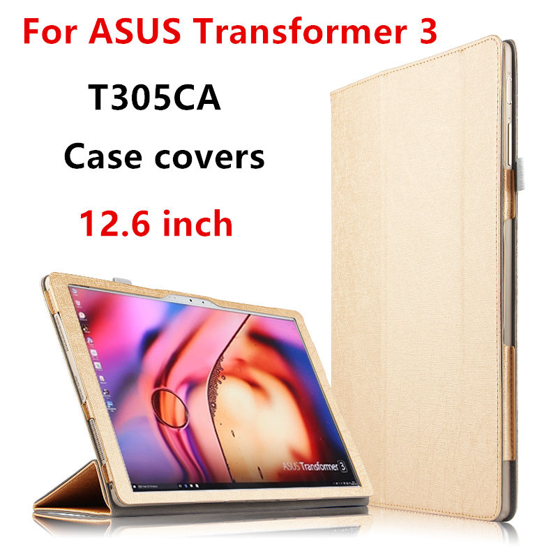 Case For ASUS Transformer 3 Protector Smart cover Leather For Asus T305CA Tablet PC Cases 12.6 inch PU Protective Sleeve Covers case for teclast tbook 16 protective smart cover protector leather tablet pc for teclast tbook16 pu sleeve 11 6 inch cases cover