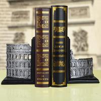 Set Fashion Bookend Book End Book File Decoration Bookshelf Accessories