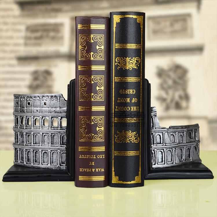 Set fashion bookend book end book file decoration bookshelf accessories fashion vintage fashion home decoration soft decoration crafts decoration bookend book end