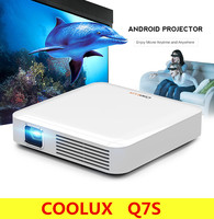Original COOLUX Q7S Portable Smart DLP Projector Android 4 4 Bluetooth 4 0 170 ANSI 854
