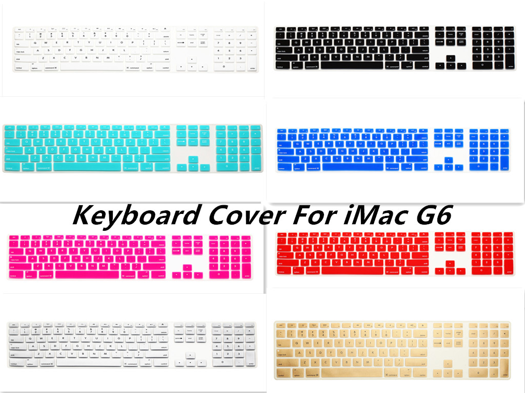 HRH 50pcs Computer Desktop Silicone Keyboard Cover Keypad Skin Protector with numeric keypad for Apple iMac G5/G6 MB110LL/A
