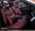Marca Novo estilo de Couro de Luxo 5 cores 3D Tampas de Assento Do Carro parte dianteira & Parte Traseira Conjunto Completo para Quatro Temporada Universal 5 Assento carro