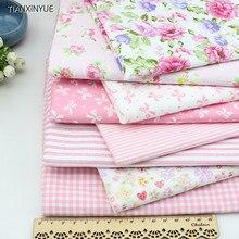 bd8f3401b3 Jovem menina marca dragão tecido rosa flor de tecido de algodão diy  patchwork artesanato costura 8 pcs boneca tilda pano 40*50 c.