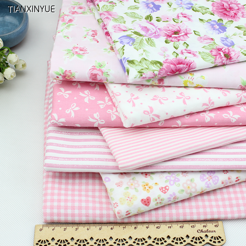 Young girl marca dragon cotton fabric pink flower fabric for Cotton sewing material