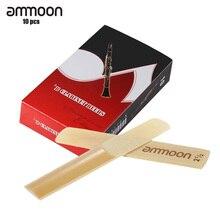 ammoon 10-pack Pieces Strength 2.5 Bamboo Reeds for Bb Clari