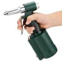 WALFRONT Pneumatic Riveter Gun Kit Industrial Air Hydraulic Pop Rivet Gun Set 110L/min Car Repair Hand Tools Kit Air Riveter Gun