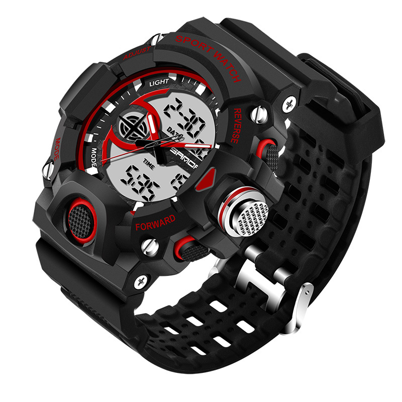 SANDA Sport Watch Men 2019 Top Brand Luxury Famous Digital Watches LED Male Clock Electronic Digital watch Relogio Masculino in Sports Watches from Watches