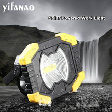 Lampe Portable Work Floodlight Tent Camping Light Lantern 50W Solar USB Rechargeable COB LED Flashlight Searchlight AA Spotlight
