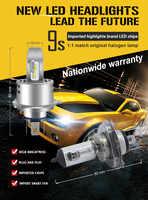 Canbus Erreur Libre H4 9003 HB2 80 W 18000lm Philips Lumi LED s puce Voiture LED Phare Kit H/L Double Faisceau DRL Lampe Conduite