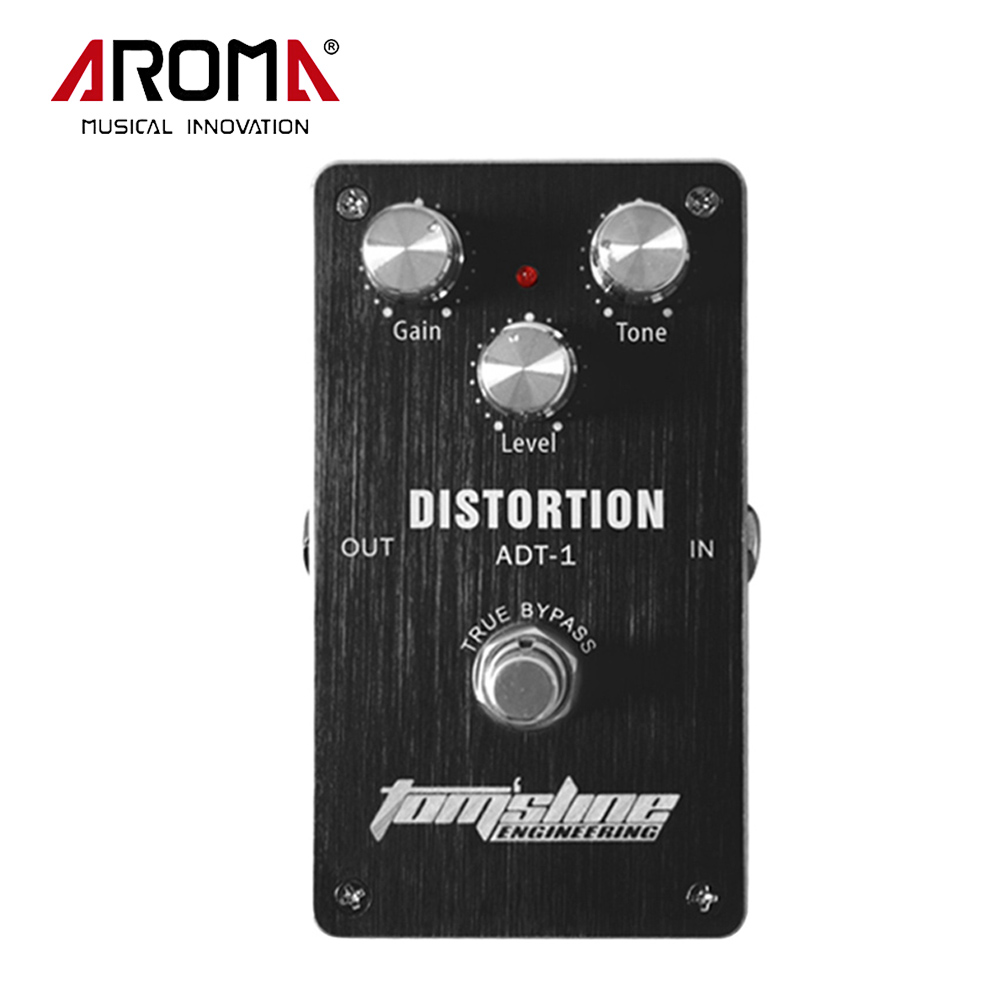 Aroma ADT-1 Aluminum Alloy Distortion Electric Guitar Effect Pedal Housing True Bypass Guitar Parts Accessory aroma adl 1 true bypass delay electric guitar effect pedal high quality aluminum alloy guitar accessories delay range 50 400ms