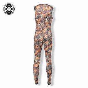 Image 5 - SLINX 2 adet kamuflaj kapüşonlu Wetsuit seti kolsuz tüplü dalgıç kıyafeti + ceket sıcak tutmak Spearfishing dalış elbisesi 3mm neopren