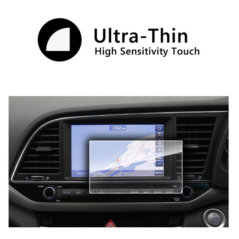 RUIYA araba navigasyon ekran koruyucu film Elantra AVN Sistemi 8 inç gps ekran, 9H temperli cam koruyucu adanmış araba