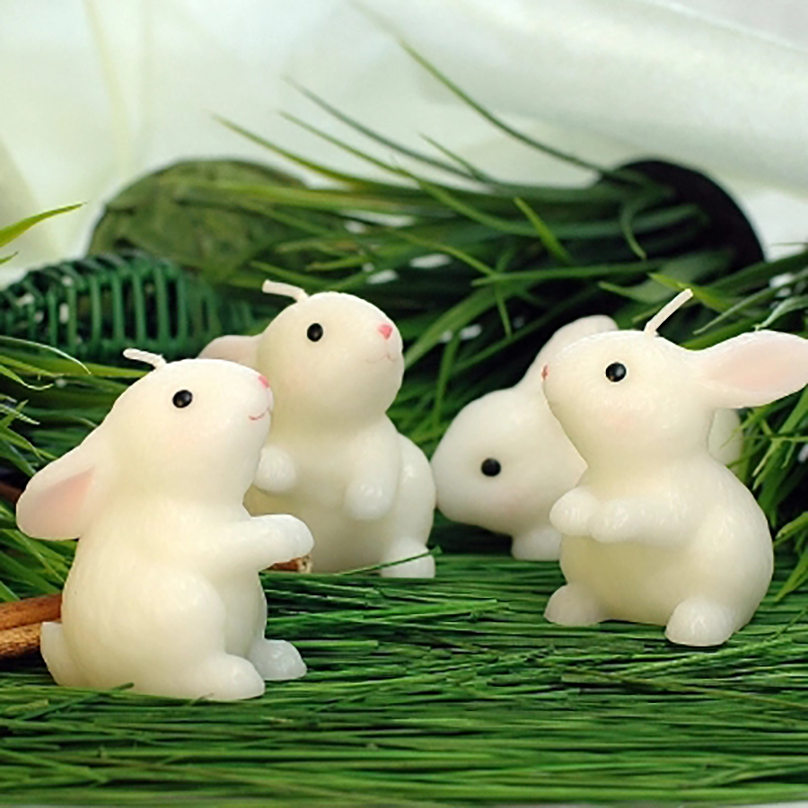 Birthday Candel Christmas Wax Rabbit Candele Decorative Natalizie Natale Candles Wedding Decoration Bengalas De Boda Fete 92 in Candles from Home Garden