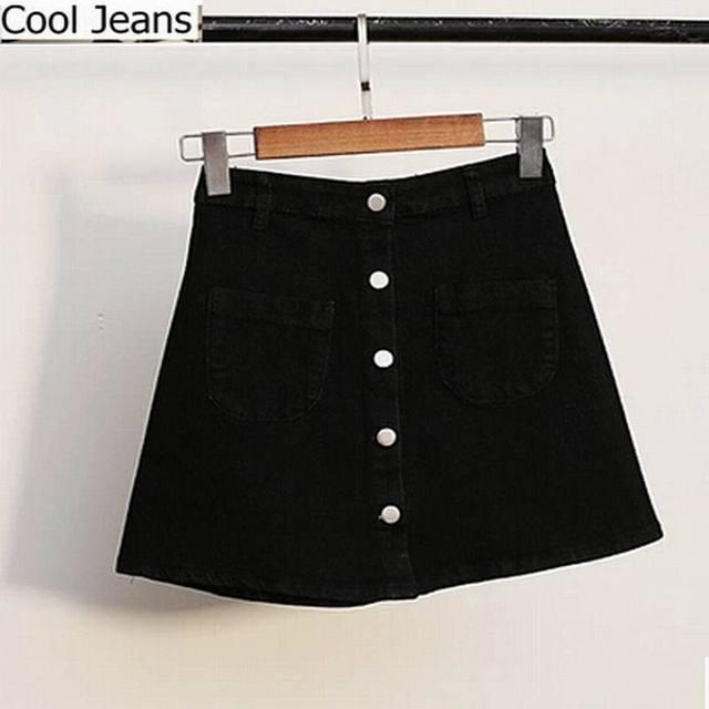 Aliexpress.com : Buy 2015 Hot sale buttons high waist denim black ...