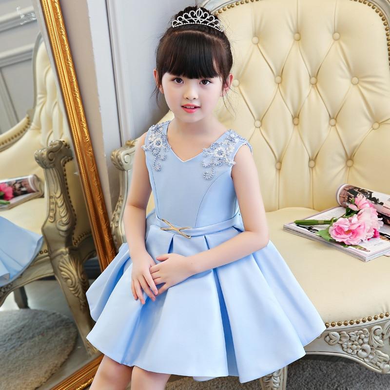 Sky blue  Flower Girl Tutu Dress Wedding Tulle Dress Girls Wedding Dresses Robe Demoiselle D'honneur Rose Fille Kids Dress blue sky чаша северный олень
