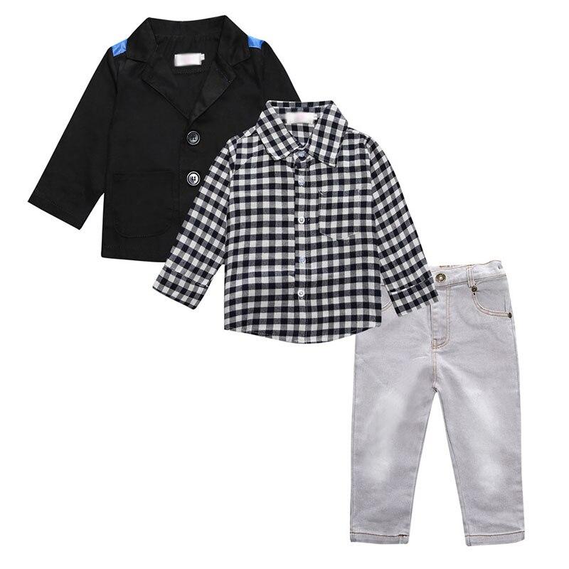 Spring Autumn Fashion Baby Boys Clothing Set Children Casual Gentleman Costume Coat+Shirt+Pants 3 Piece Sets 2 3 4 5 6 7 Years штаны для мальчиков baby boy pants kd 6 2015 infantil kd 2 3 4 5 6 xtk 66