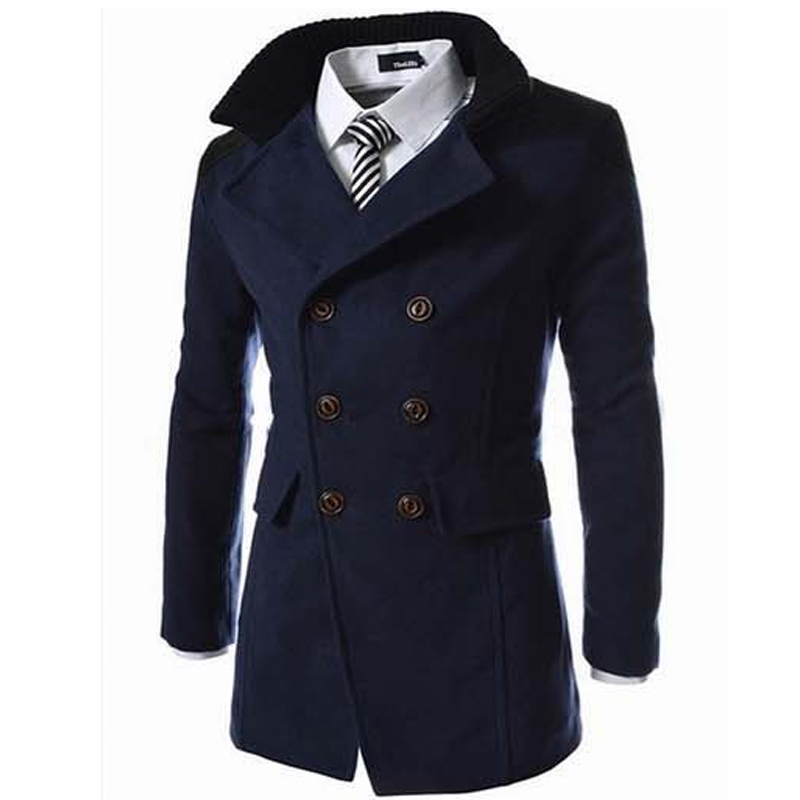 Compare Prices on Mens Double Breasted Long Coat- Online Shopping ...