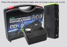 12V Multi-Function Car Jump Starter Mobile phone Power Bank Laptop External Rechargeable Battery with electric air pump