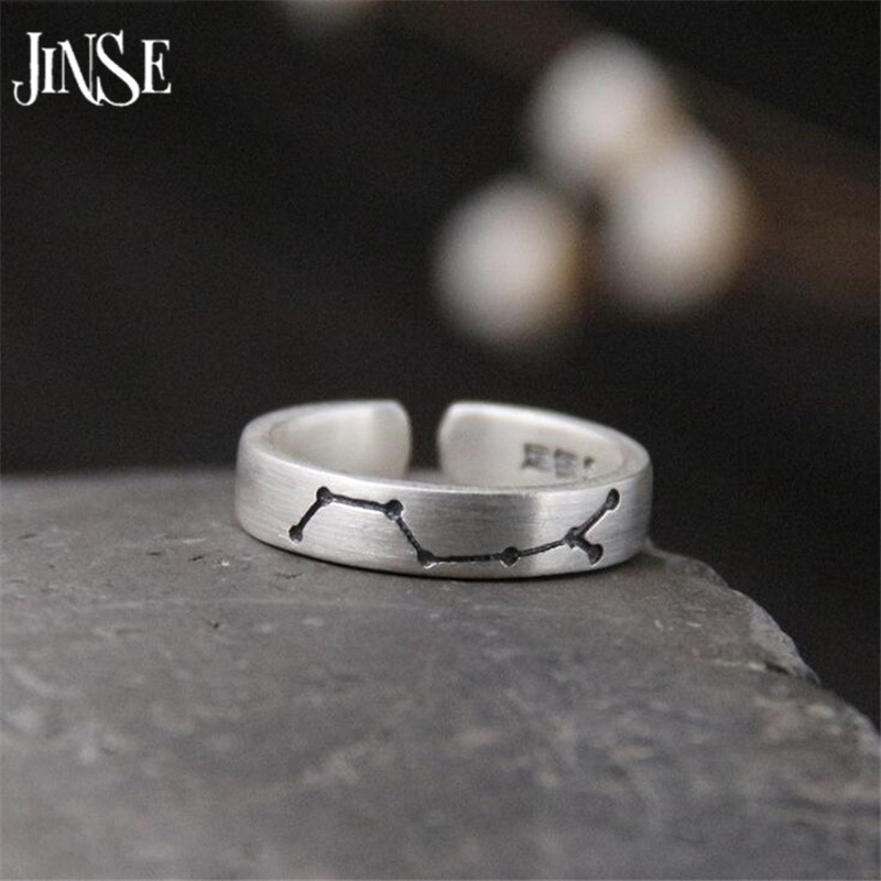 JINSE Best Gift S925 Sterling Silver Ring Leaf Ring Leaves Shell Pearl Ring For Lady 14.80mm 3.9G