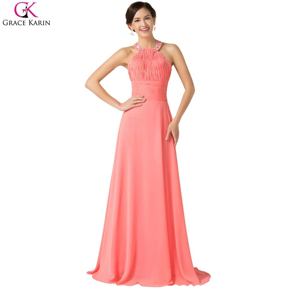 Tienda Online Grace karin halter barato vestidos de noche largo 2017 ...