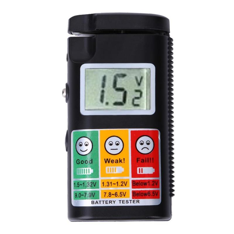 BT-568 Universal LCD Display 0-9V Digital Battery Tester Checker for AA AAA R1 LR1 R03 LR03 R6C