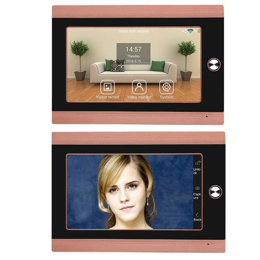 KERUI SMS Push Motion Alarm TF Card Slot 7inch WiFi Video Call GSM Peephole 1080P Camera