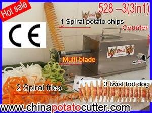 528 Where To Buy Stainless Steel Spiral Potato Machine