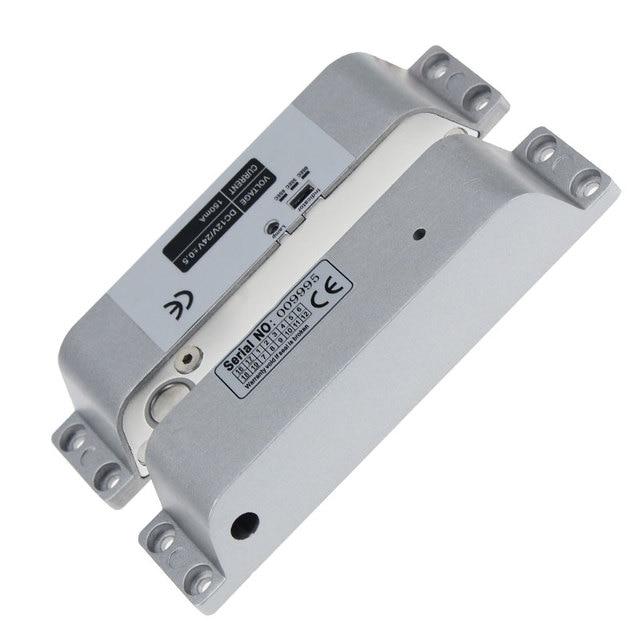 تصميم جديد سطح شنت مسمار كهربائي قفل DC12V فشل آمنة لباب خشبي ديدبولت NC وضع فشل مزلاج باب الالكترونيات آمنة