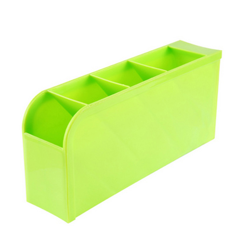 4 Grids Desk Storage Office Organizer Box Case Cosmetic Organizer Holder 2017
