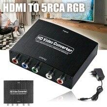 4 K HDMI к 5RCA RGB компонентный YPbPr видео + R/L аудио адаптер HD ТВ преобразователь 5 V HDMI кабель для ноутбук Xbox для Apple ТВ PS4 Pro