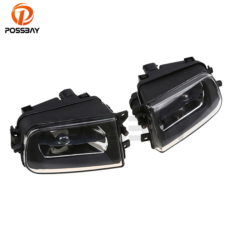 POSSBAY Car Front Lower Bumper Fog Lights for BMW E39 5-Series 1995-2000 Fog Light Housing for BMW Z3 1995-2002 2pcs right left fog light lamp for b mw e39 5 series 528i 540i 535i 1997 2000 e36 z3 2001 63178360575 63178360576