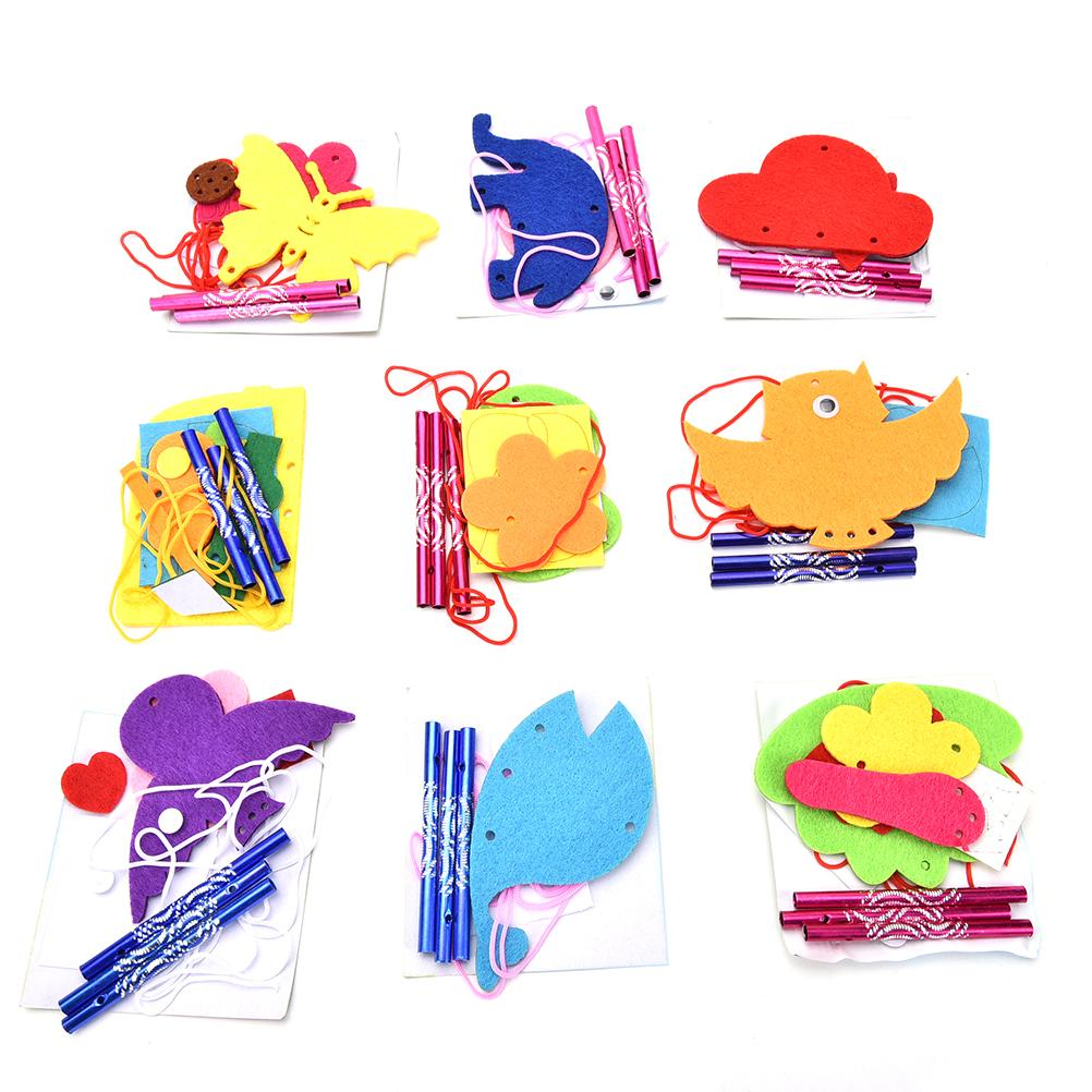 Kids DIY Puzzle Toys for Kids Wind Chime Manual Crafts Hanging Kits Toys Random