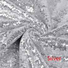 2Yard Embroidery Sequin Fabric Material Silver Sparkly Used to Make Clothes Shoes Bags Wedding Partie Event Decor -527