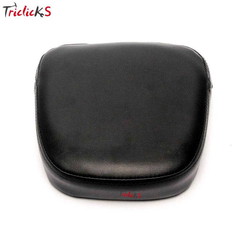 Triclick New Rear Backrest Sissy Bar Cushion Pads Padding Seat Cover Cushion Pad For Harley Yamaha Honda Suzuki Kawasaki Bikes