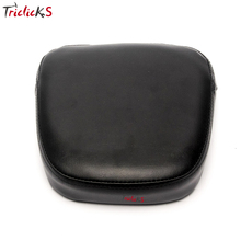 Triclick New Rear Backrest Sissy Bar Cushion Pads Padding Seat Cover Pad For Harley Yamaha Honda Suzuki Kawasaki Bikes