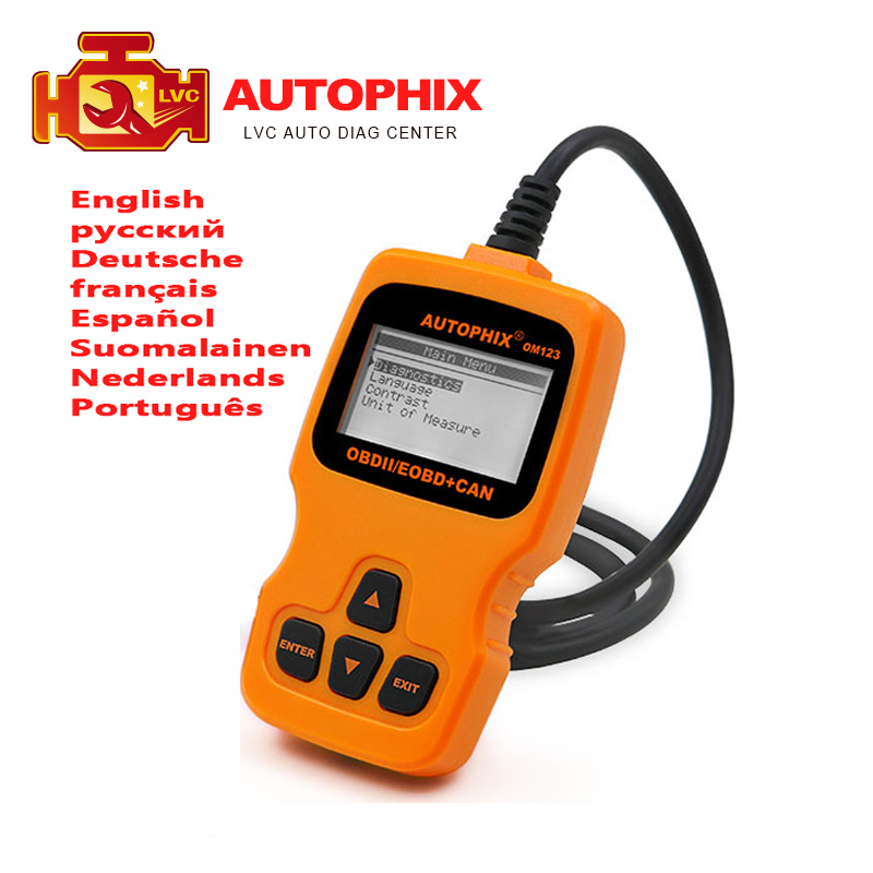 Autophix ObdMate om123 Diagnostics OBDII scanner code reader European and Asian vehicles Support US