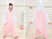 White Head Kitty Cat Adult Kids Children Size Animal Onesie Pajamas Costume For Cosplay Party For