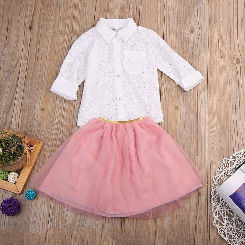 New 2017 Cute Toddler Kid Baby Girl Clothes Dress T Shirt Top + Ruffle Tutu Skirt Outfit Set B ...