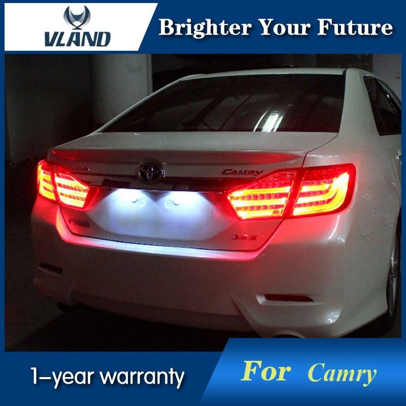 Vland Led Taillight Back Light Smoke Refit For Toyota