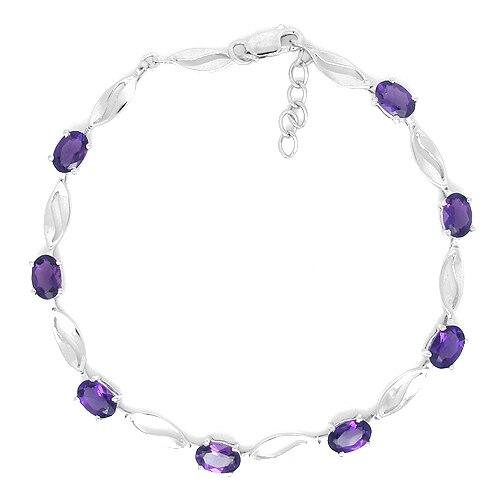 2017 realen Anlage Qi Xuan_Free Verschiffen Lila Steine Elegante Bracelets_925 Solide Silber Bracelets_Manufacturer Großverkäufe